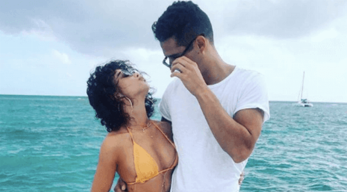sarah hyland and wells adams on a boat