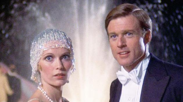 The Great Gatsby 1974: Daisy and Jay Gatsby look surprised