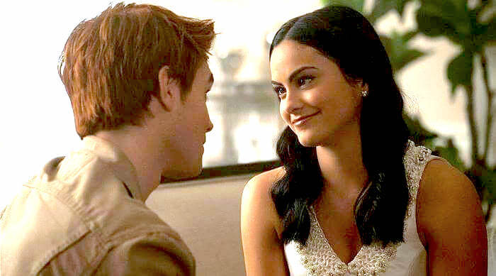Veronica looking lovingly at Archie before he communion on Riverdale