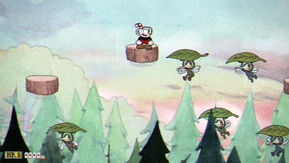 cuphead-treetop-trouble-flying-mosquitos-with-leaves-041819