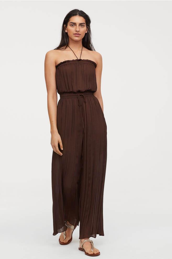 H&M brown jumpsuit