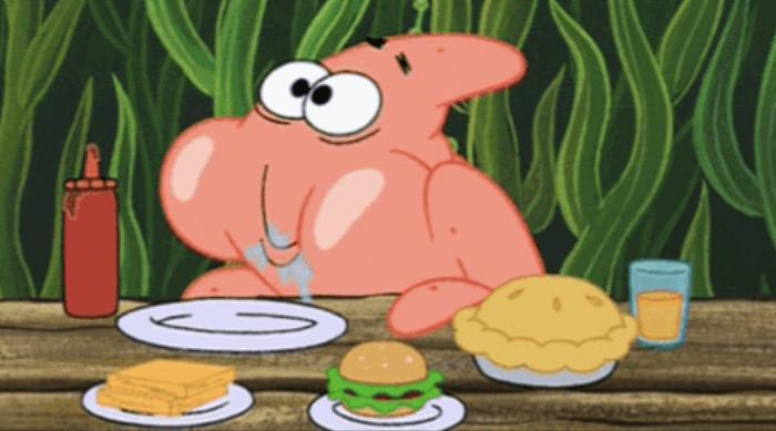 Spongebob Squarepants - Patrick eating