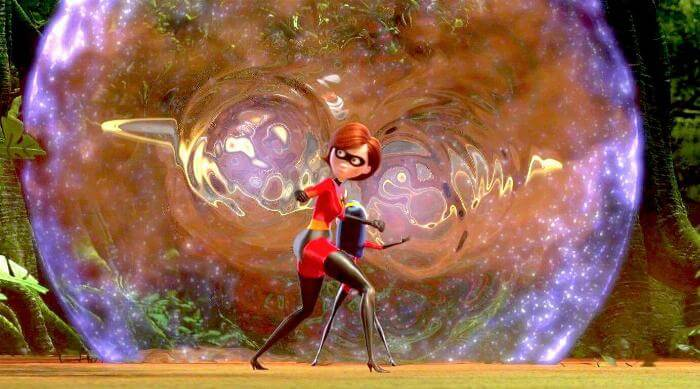 The Incredibles: Helen and Violet Parr in a force field