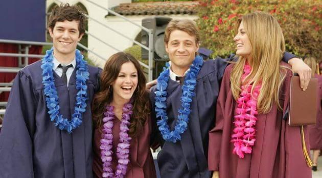 The gang graduating on The O.C.