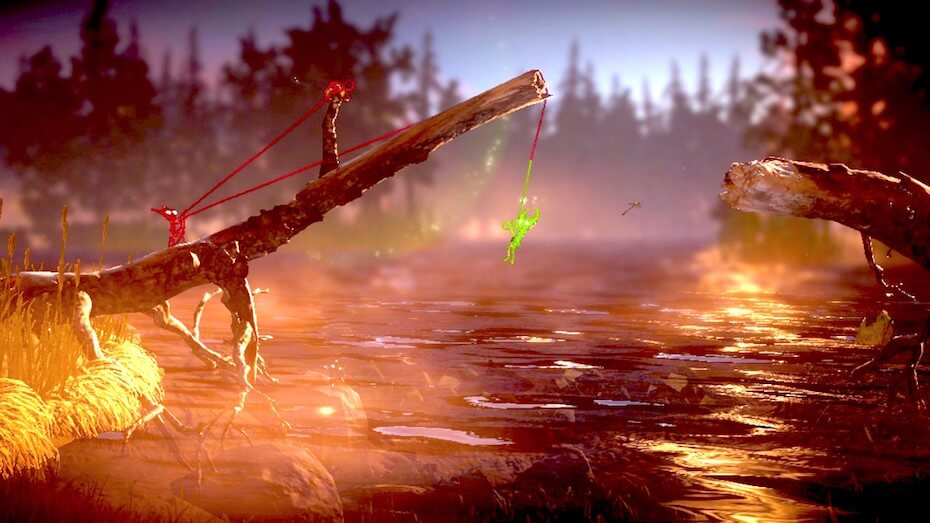 Unravel 2 - Cooperation, swinging from stick