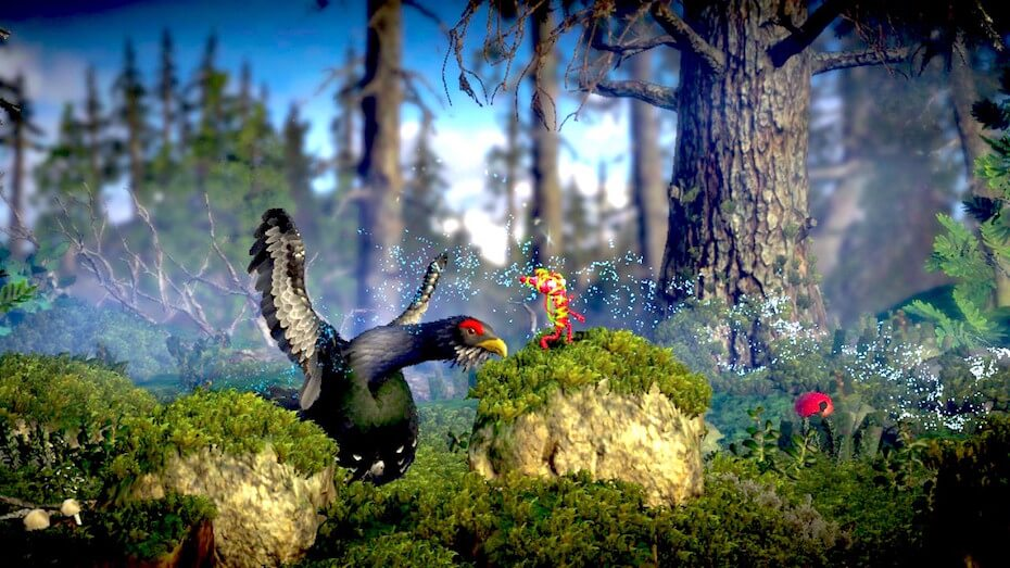 Unravel 2 - Running away from scary grouse bird