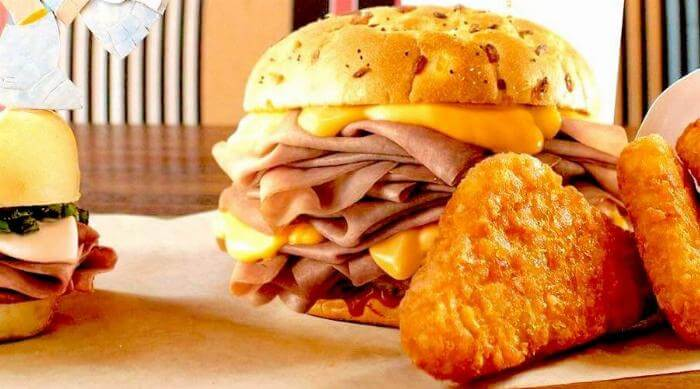Arby's Ham and Cheese sandwich
