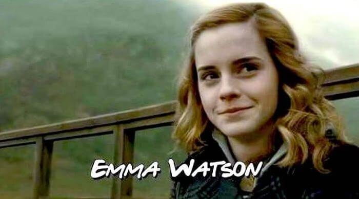 Harry Potter: Emma Watson as Hermione comedy sitcom card