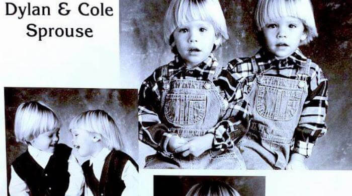 Instagram: Cole and Dylan Sprouse baby headshots
