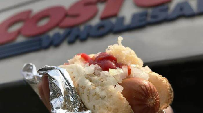 Instagram: Costco Hot Dog in front of Costco store