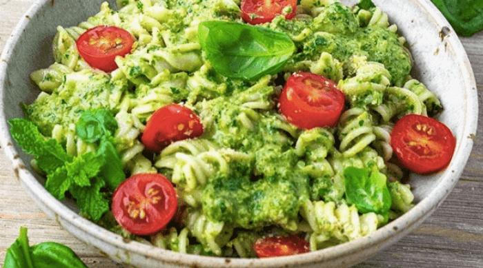 Pesto Pasta with tomato
