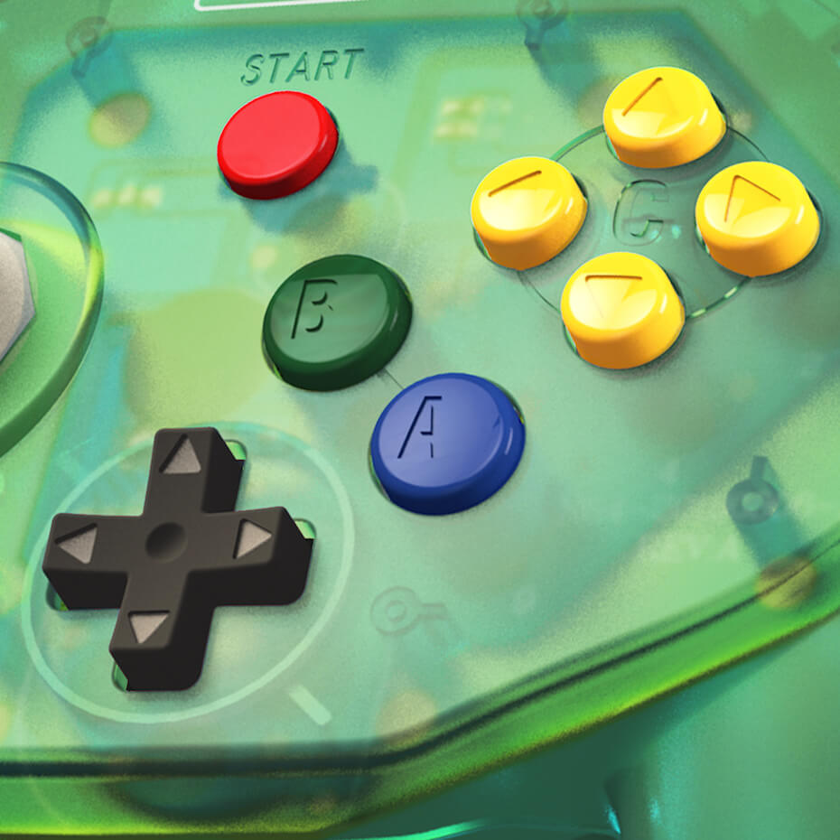 retro-bit-tribute64-green-controller-closeup-051719