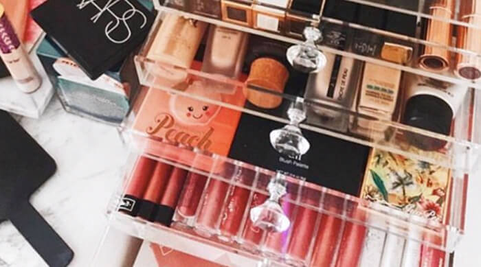 organize beauty counter