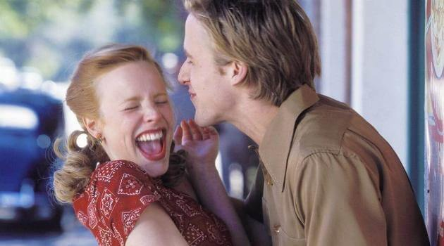 Allie and Noah acting goofy in 'The Notebook'