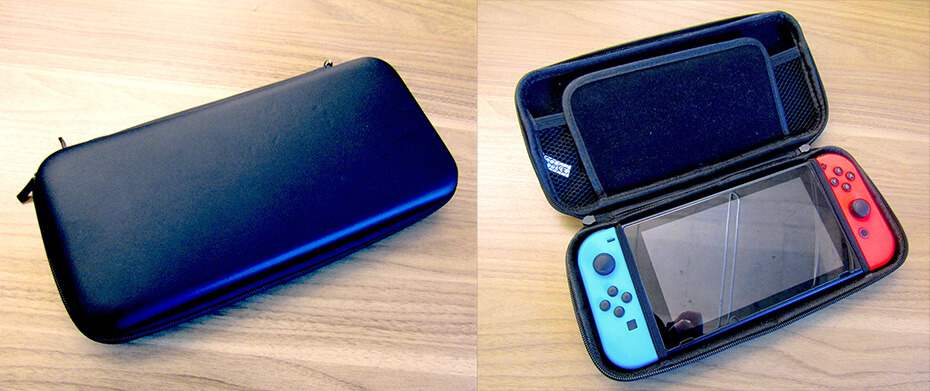 Amanda's Nintendo Switch in its case