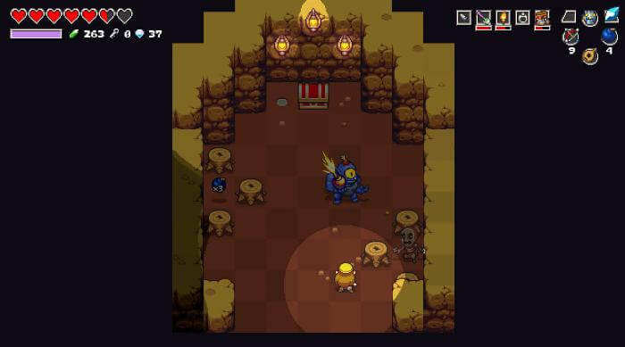 Cadence of Hyrule: Crypt of the Necrodancer: Treasure room with hinox