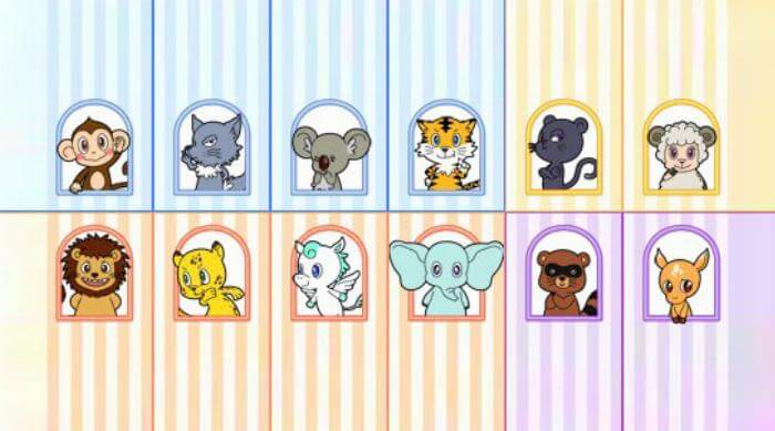 Doubutsu uranai animal horoscope website art