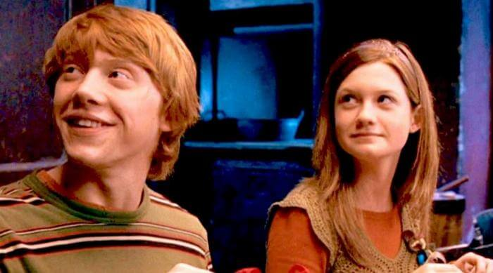 Harry Potter and the Order of the Phoenix: Ron and Ginny Weasley at Christmas
