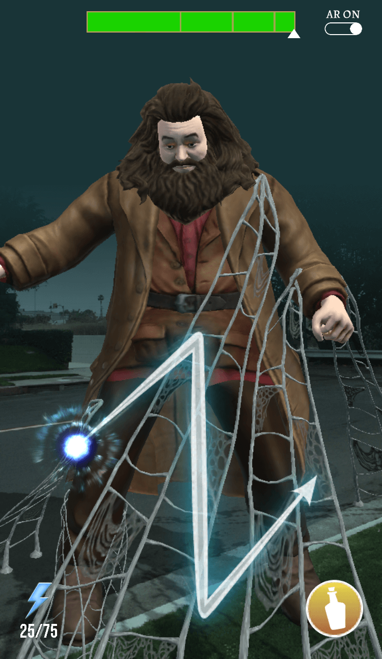 Harry Potter: Wizards Unite - Hagrid trapped in web