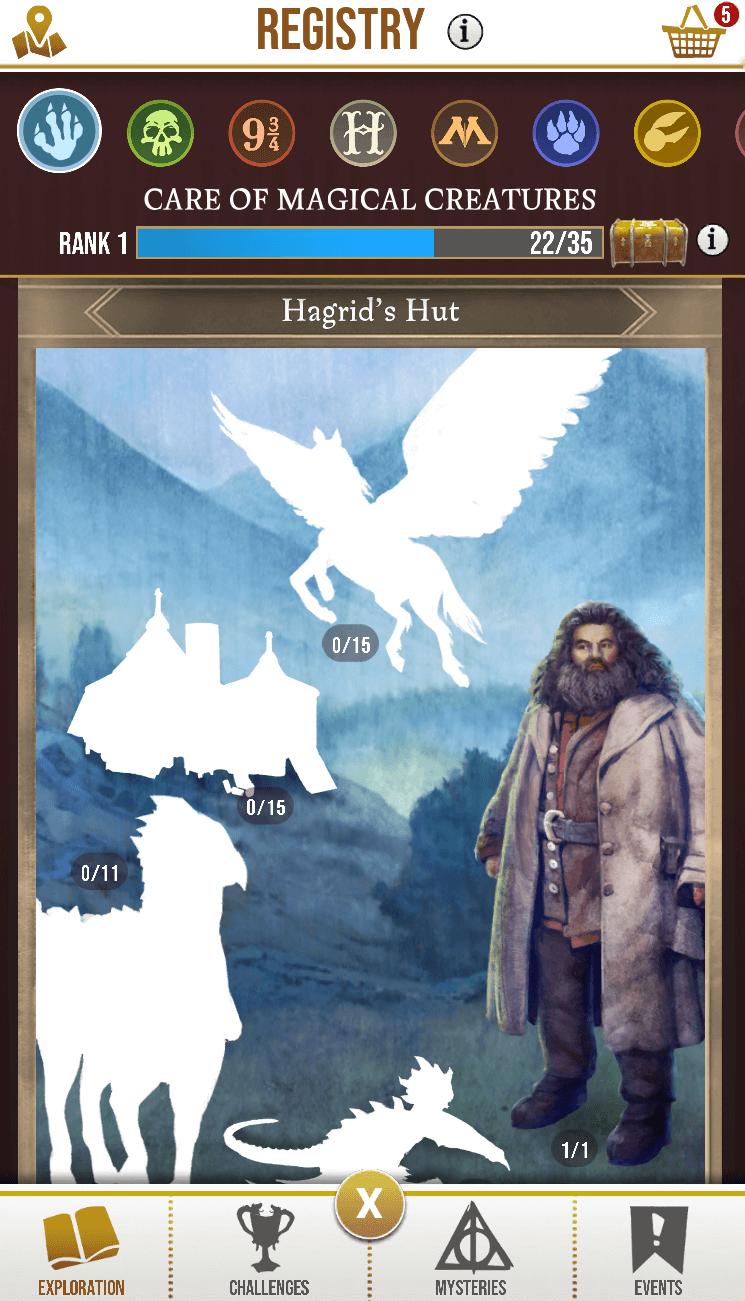 Harry Potter: Wizards Unite - Hagrid Sticker in Registry