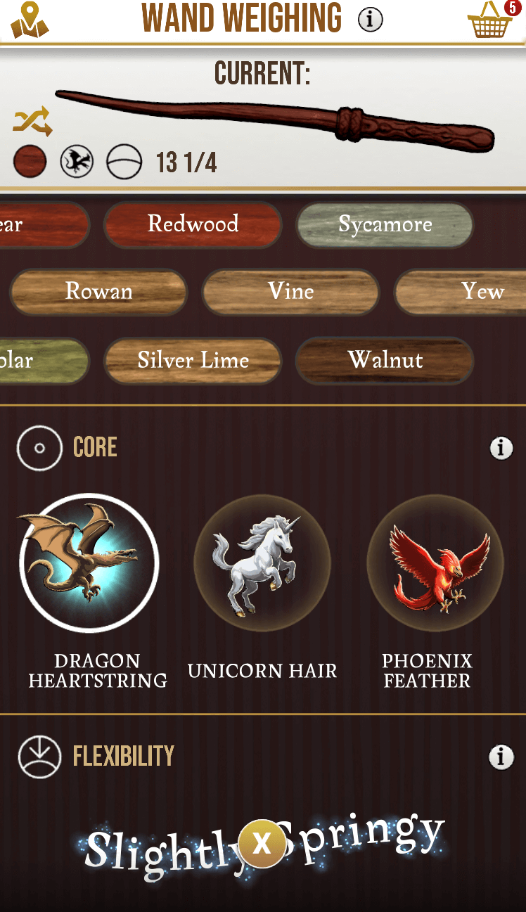 Harry Potter: Wizards Unite - Wand selection