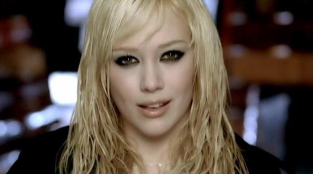 "Hilary Duff performing in her music video for ""Come Clean"""