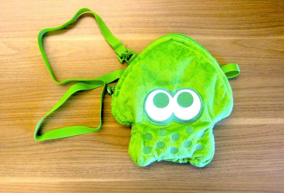Hori green Splatoon Nintendo Switch case with shoulder strap