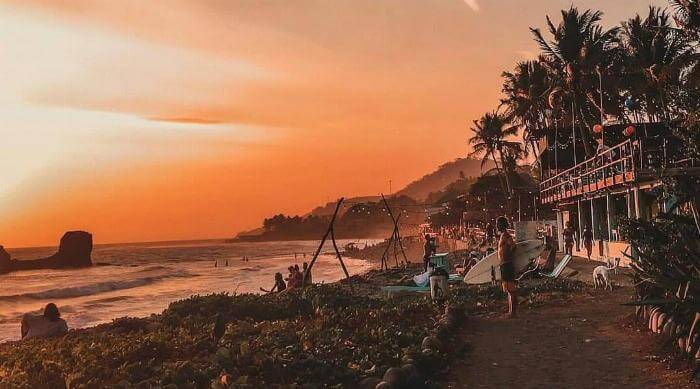 Instagram: El Salvador beach and ocean at sunset