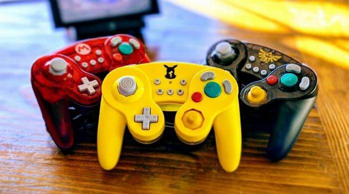 Hori Nintendo Switch Battle Pad controllers in Mario, Pokémon and Legend of Zelda styles