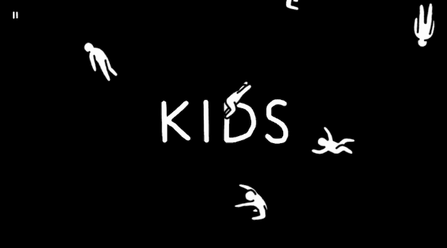 Kids Title Screen with falling Kids