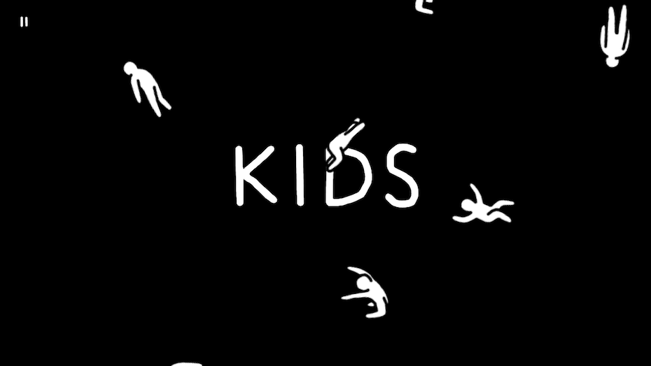 Kids: Title screen with falling kids