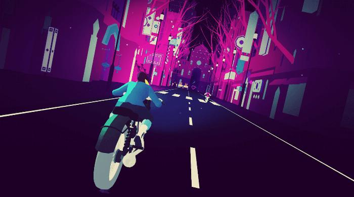 Sayonara Wild Hearts: Fool motorcycle chase