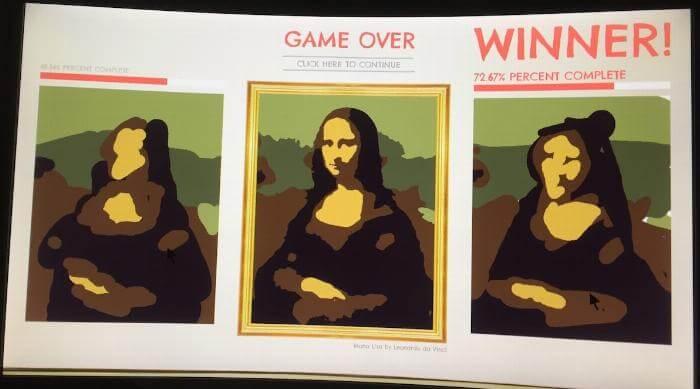 Sloppy Forgeries Mona Lisa winning screen