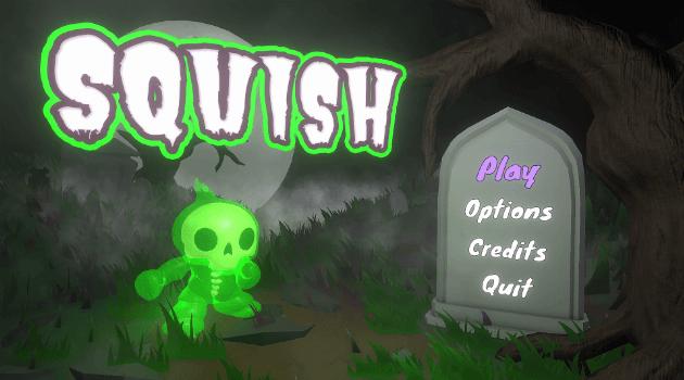 Squish game title menu