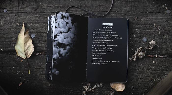 Unsplash: Dark book or poetry
