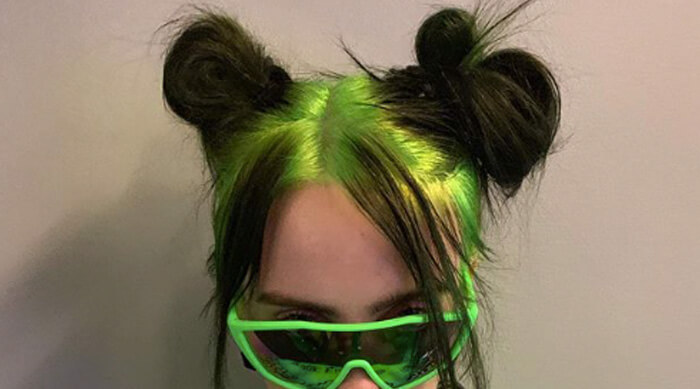 Billie Eilish Neon Green Hair Color Roots