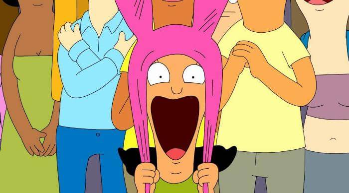 Bob's Burgers: Louise screaming at Boyz 4 Now concert