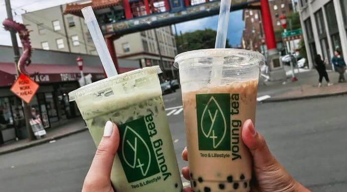 Instagram: Two cups of boba milk teas from Young Tea