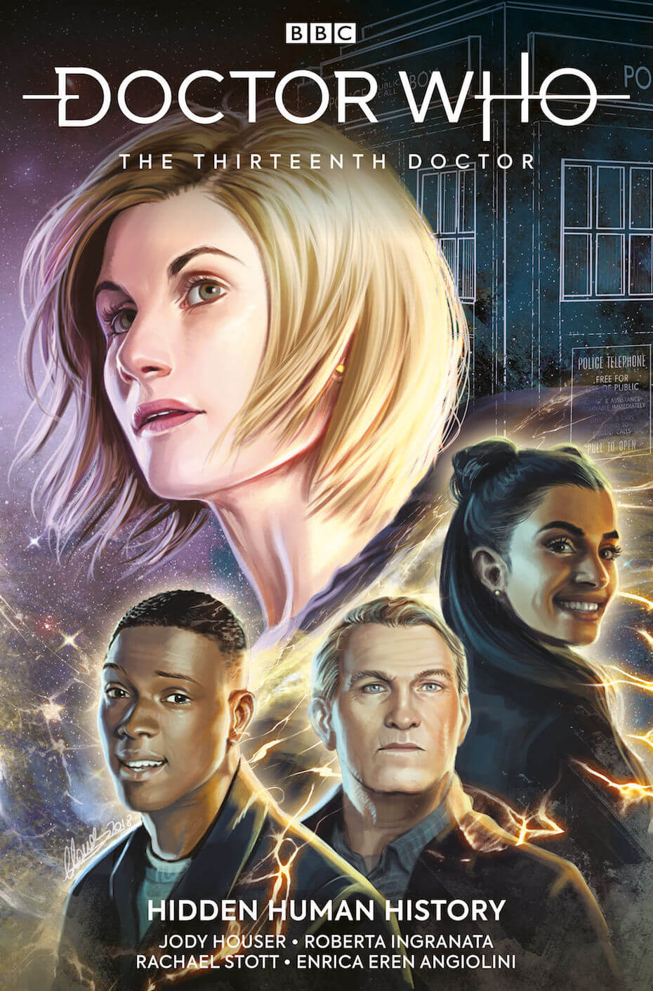 Titan Comics: Doctor Who: The 13th Doctor Hidden Human History cover