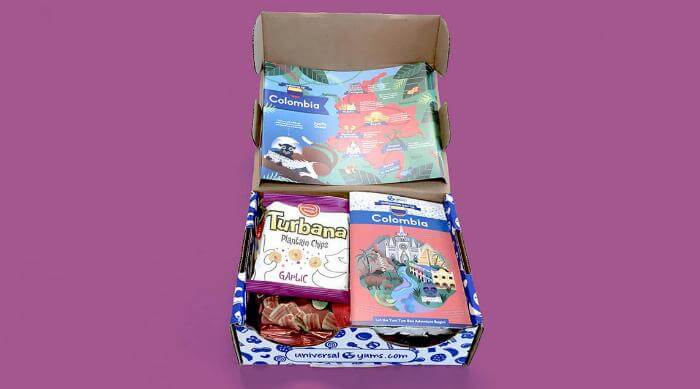 Universal Yums Colombia Box