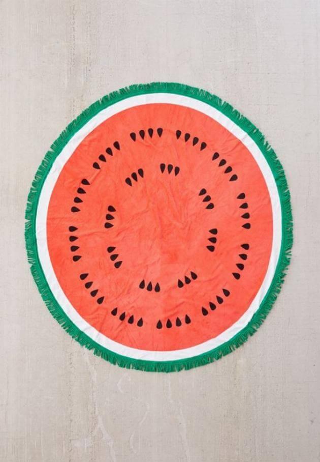urban outfitters watermelon circle beach towel