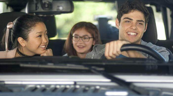 Lara Jean, Kitty, and Peter Driving in To All the Boys I've Loved Before