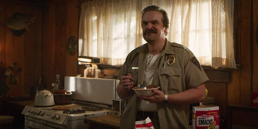 Jim Hopper in Stranger Things