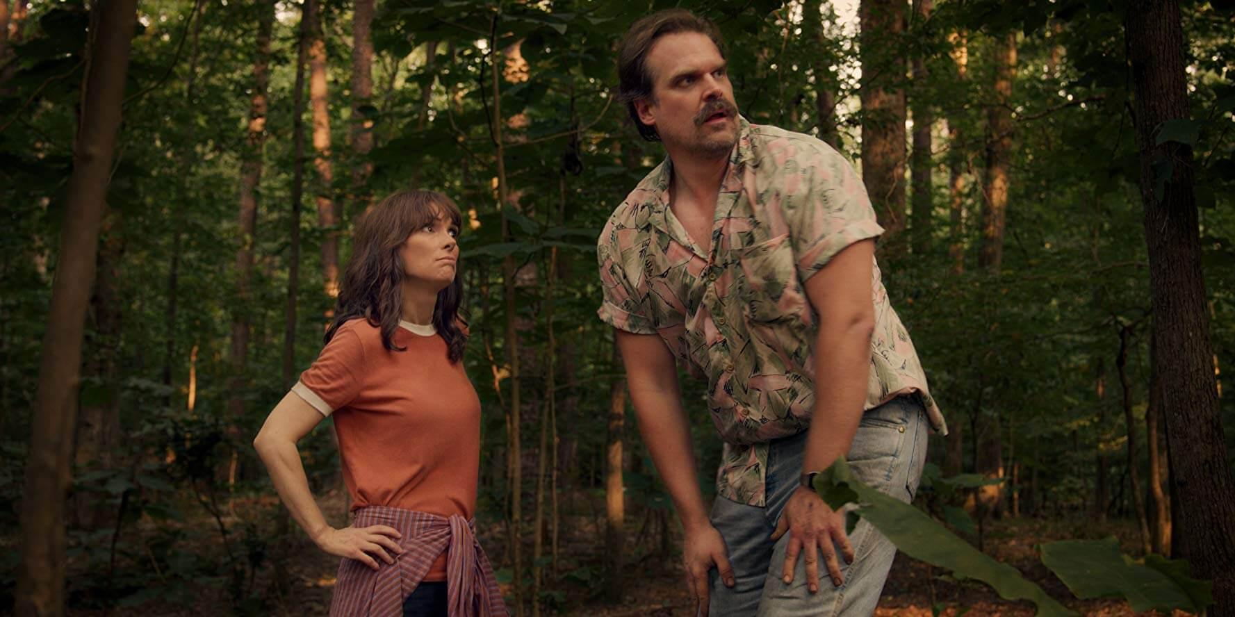 Joyce Byers and Jim Hopper in Stranger Things Season 3
