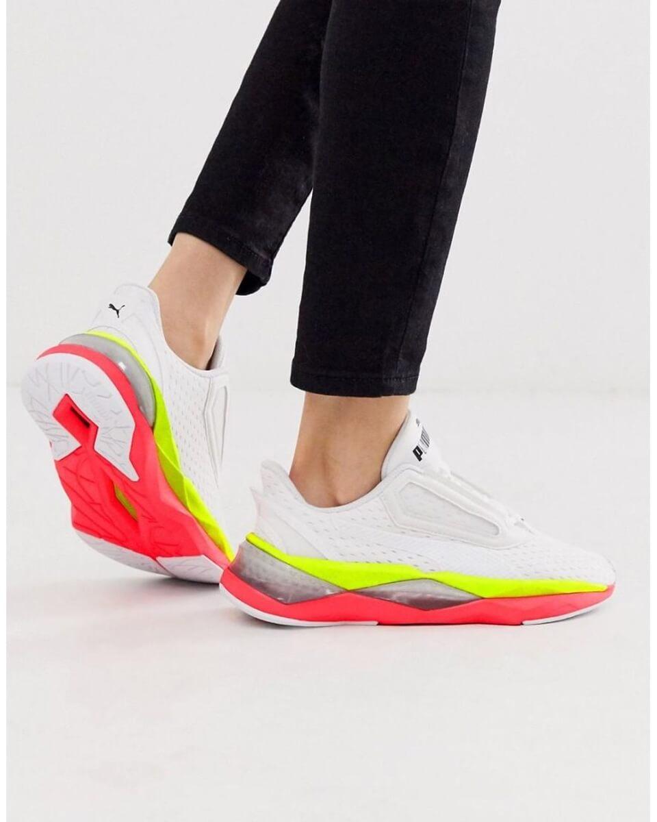 puma neon sneakers