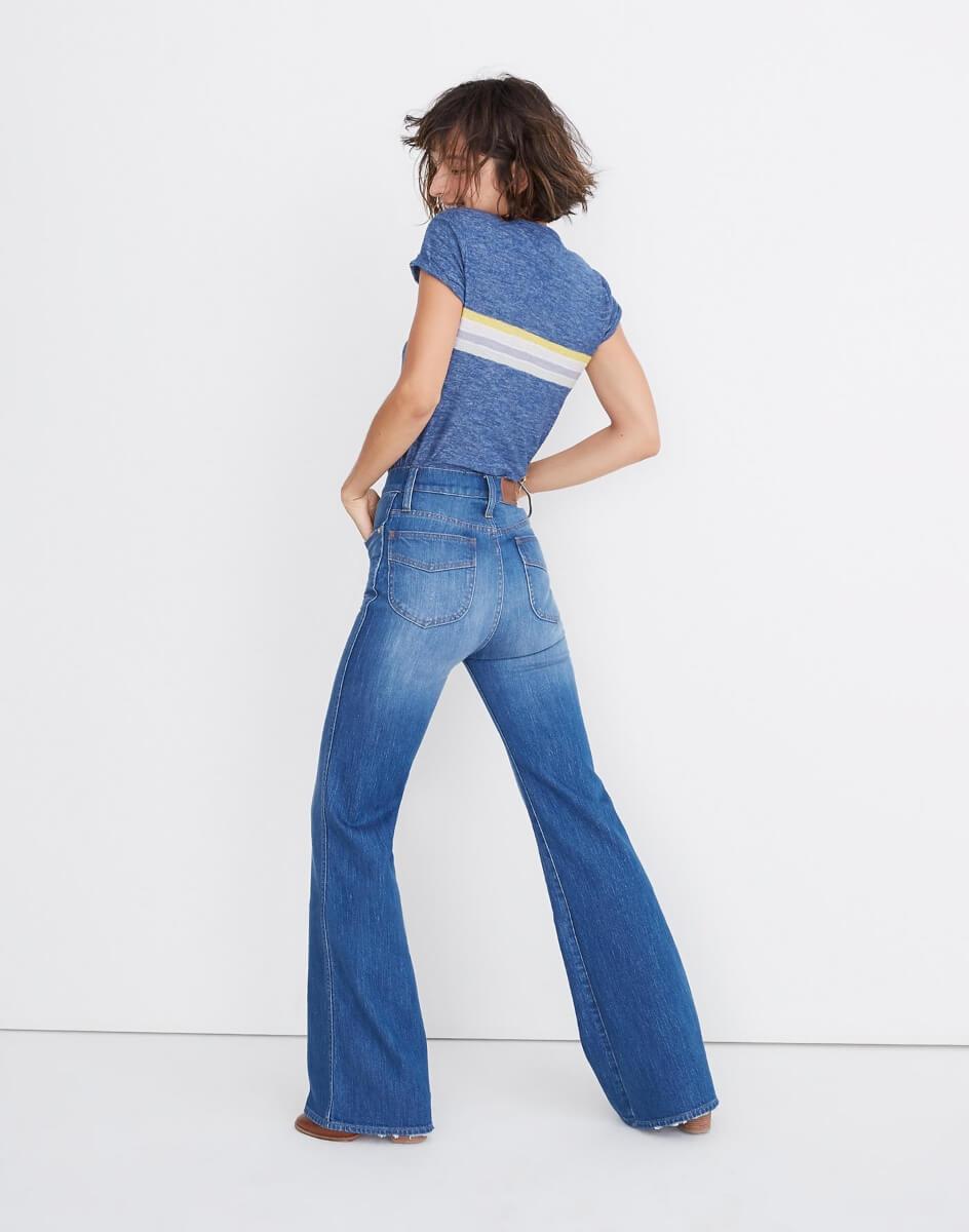 madewell flared high waisted jeans