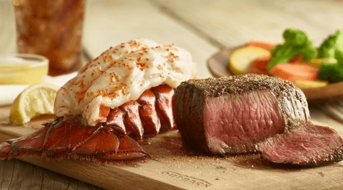 Outback Steakhouse Instagram - steak and lobster tail