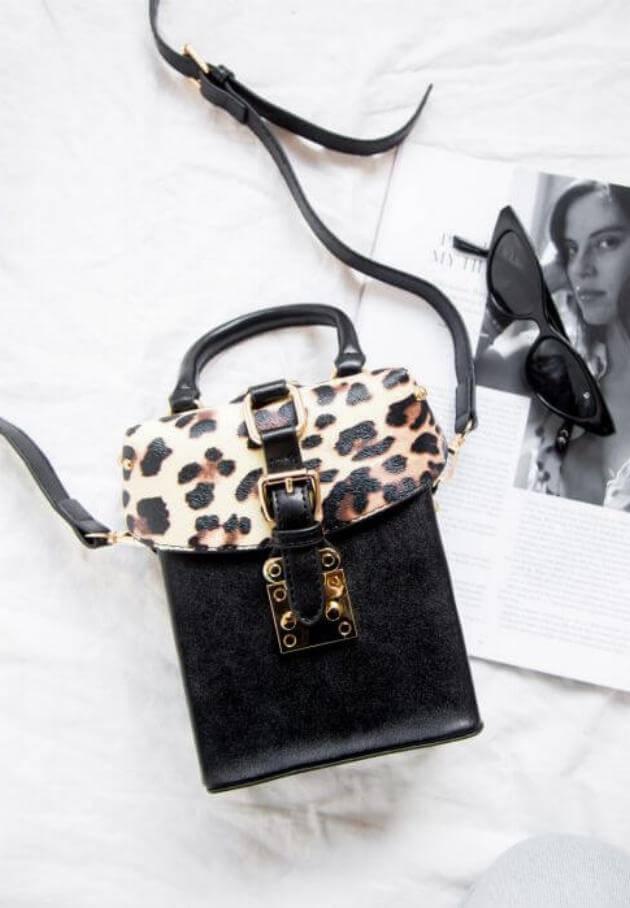 peppermayo leopard crossbody bag