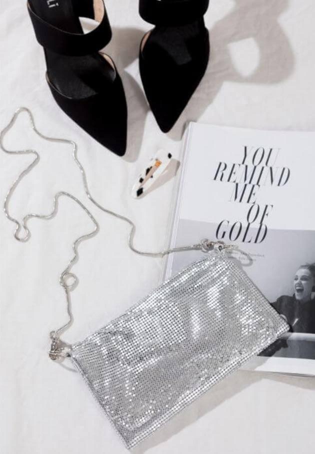 peppermayo silver brodie bag