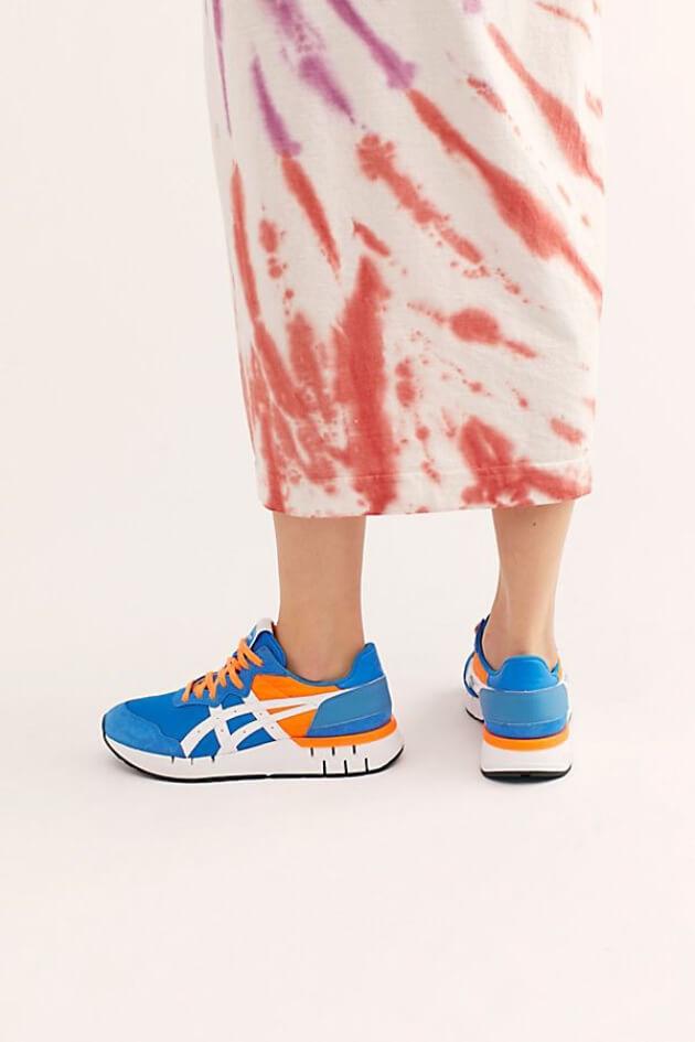 asics neon sneakers